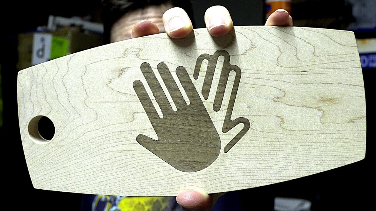 Highfive Cutting Board / CheeseBoard for Mother's Day using Inventables Carvey & Full Spectrum Muse!