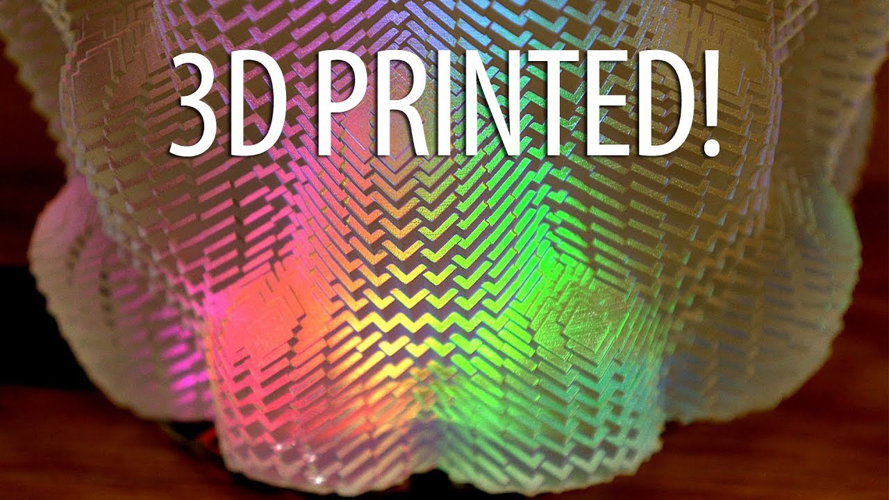 3D Printing with Math! Cuboid Vase on Form 2 3D Printer – Lights from Adafruit Circuit Playground