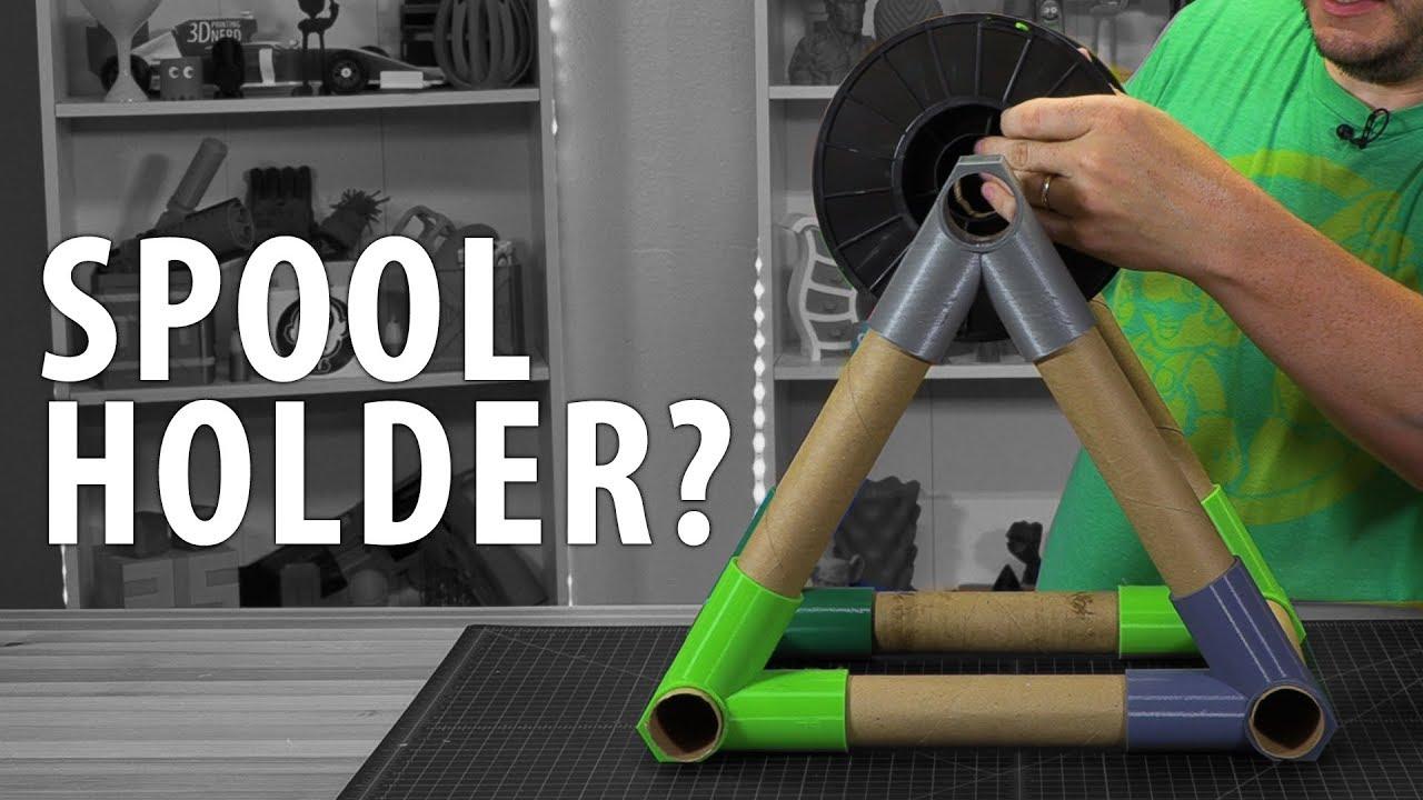 3D Printing a Spool Holder Using Paper Towel Cardboard Tubes