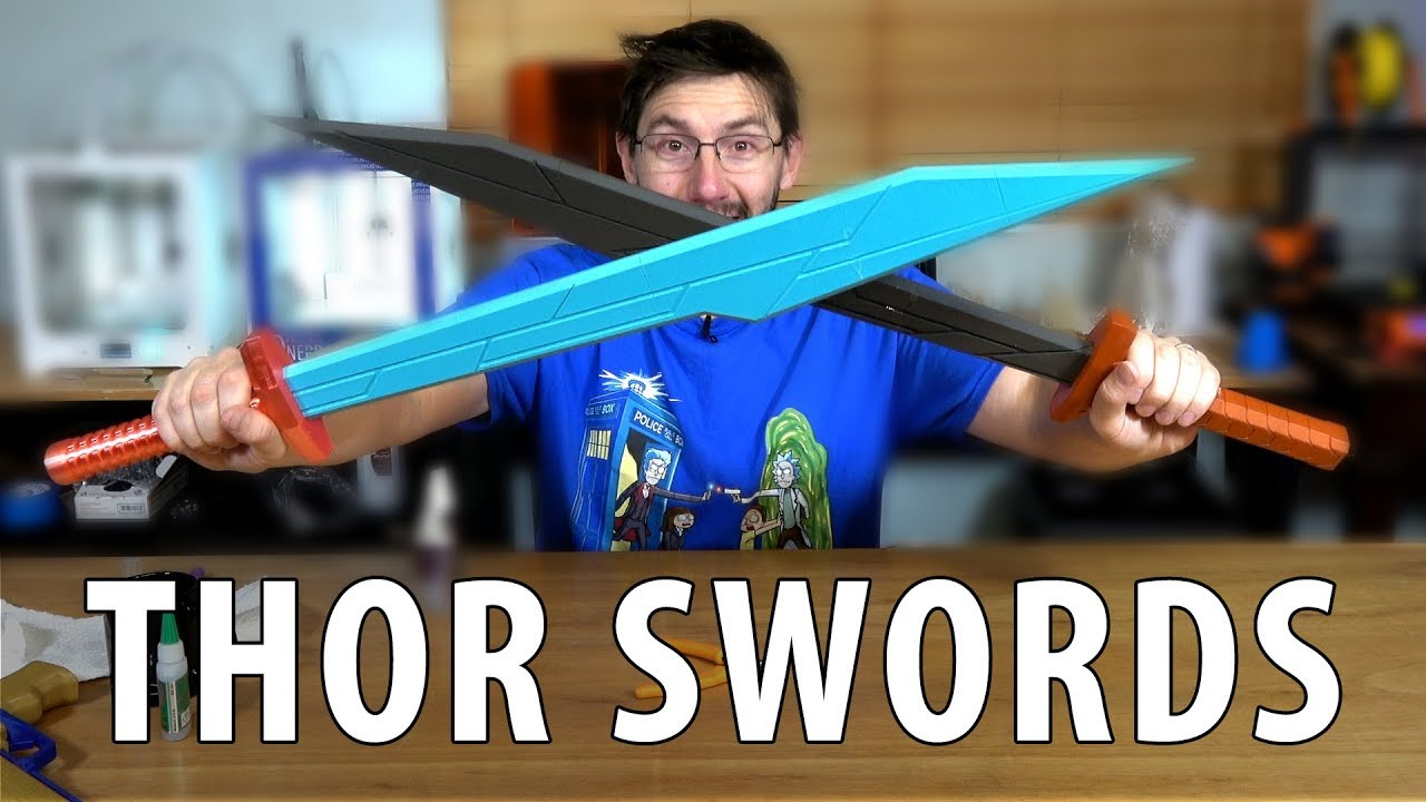 3D Printing Swords from Thor Ragnarok Using 3DWorkbench Models Ultimaker Prusa Proto-Pasta