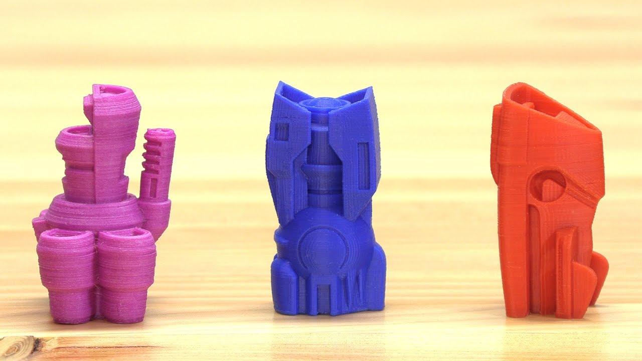 3D Printing SPACESHIPS! with Matterhackers BUILD on Prusa i3 mk3, Raise3D N2+, & Lulzbot TAZ6