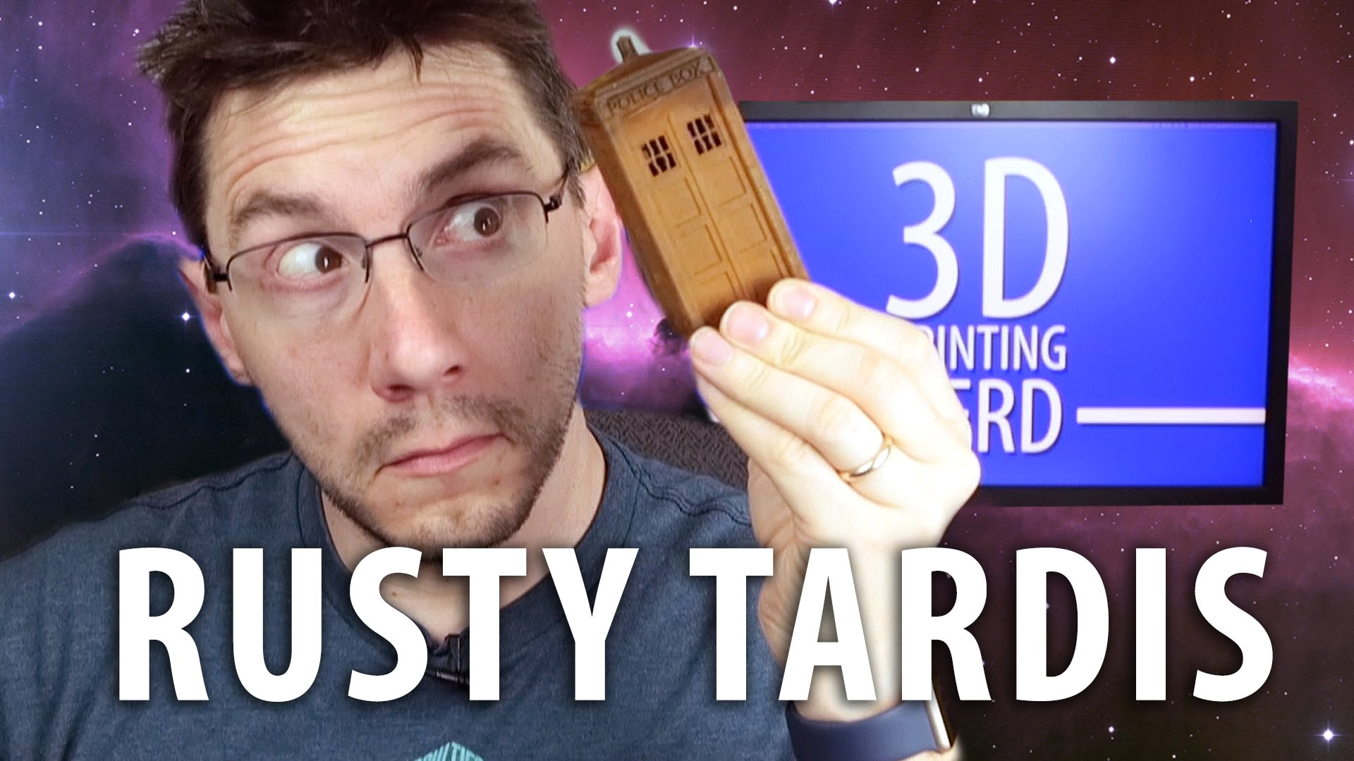 Letting a 3D Printed Doctor Who TARDIS Rust