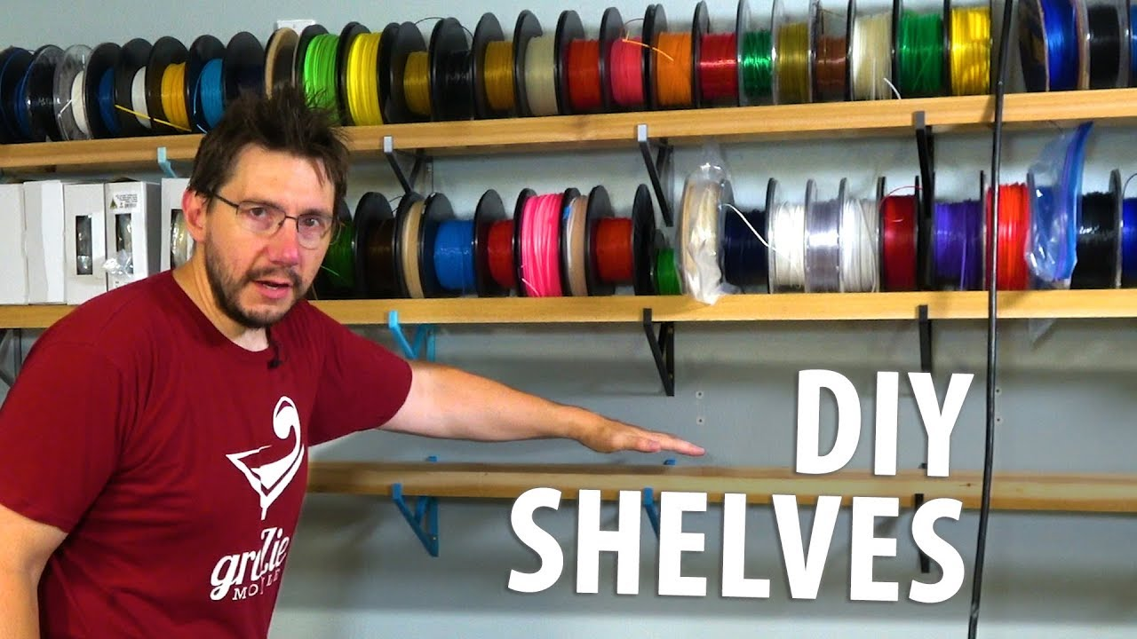 Practical 3D Printing Ideas: DIY Shelf Brackets! Filament Shelves!