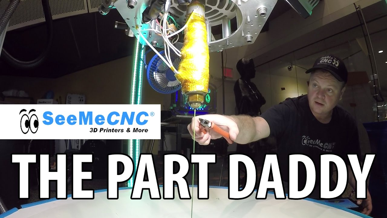 3D Printing: The Part Daddy 3D Printer from SeeMeCNC at Maker Faire New York #WMF16