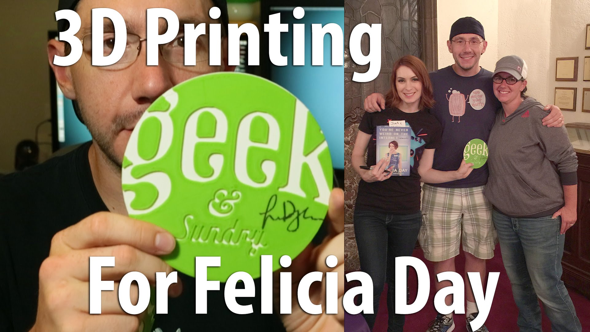3D Printing Geek & Sundry logo for Felicia Day