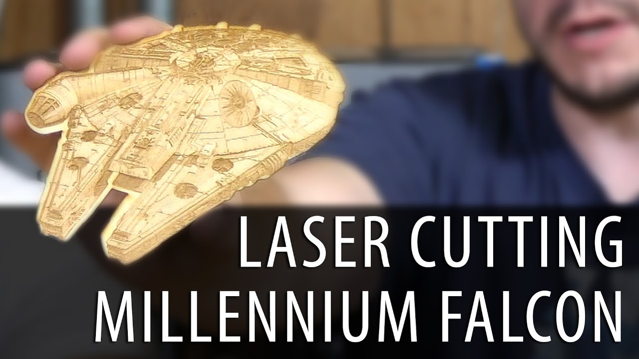 Laser Cutting the Star Wars Millennium Falcon on the Full Spectrum Muse Hobby Laser
