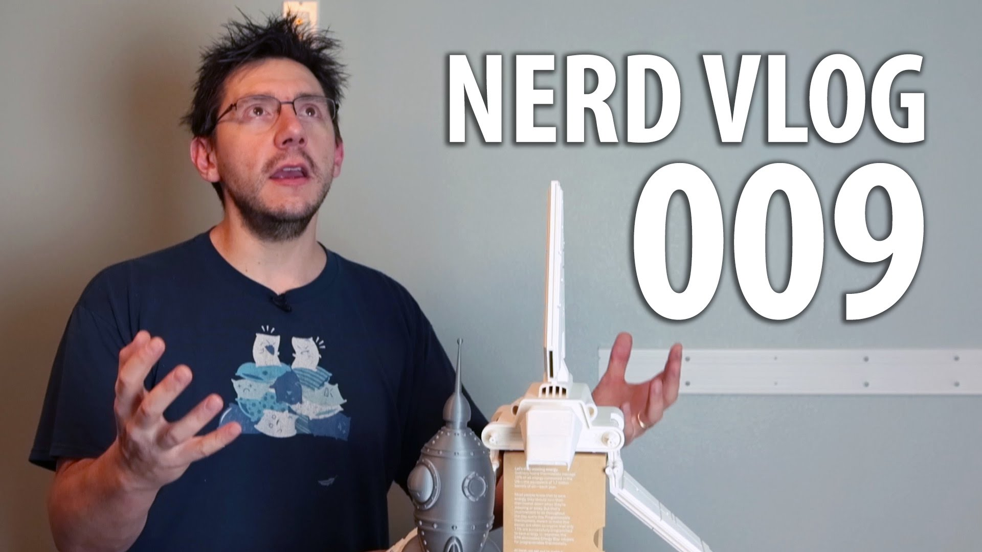 Nerd Vlog 009 : 5 3D Printers and a Massive Contest Announcement