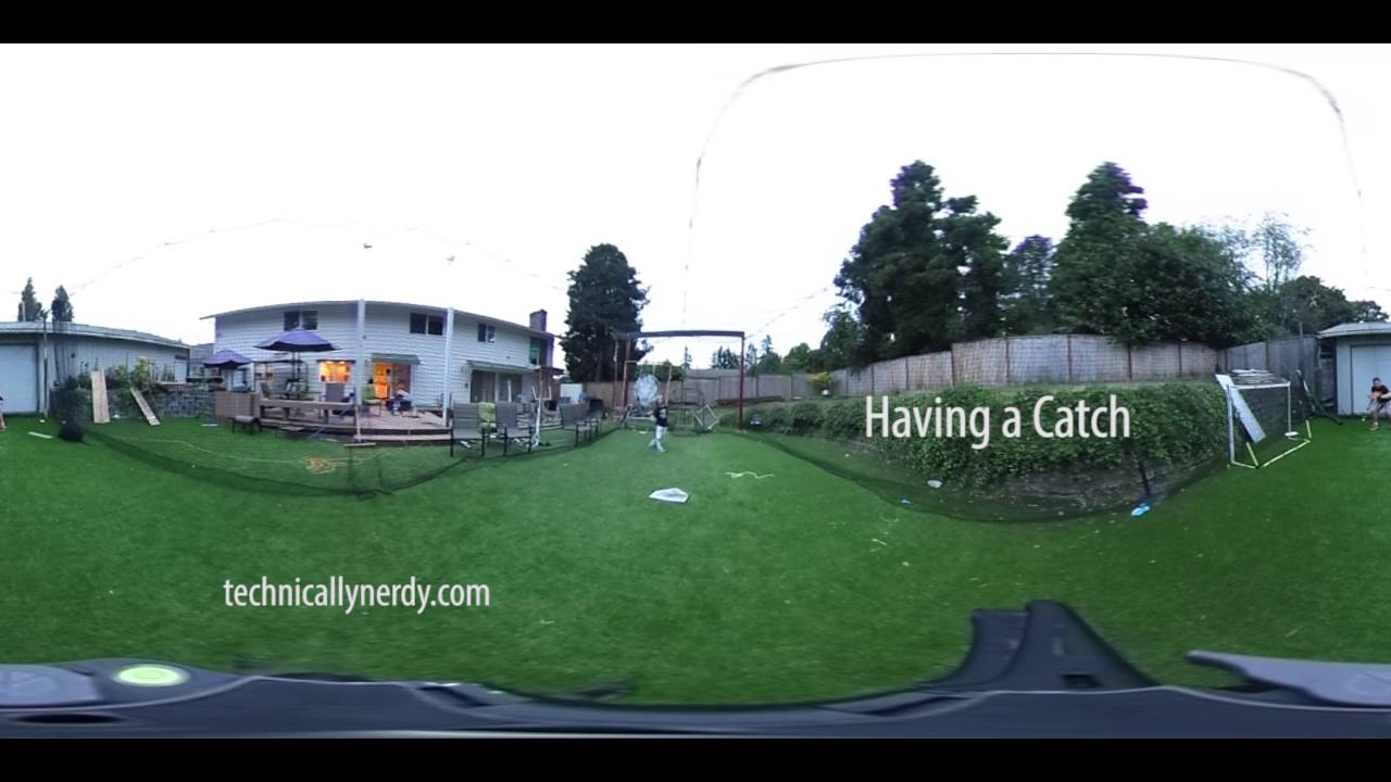 Having a Catch in 360 Degrees with Ricoh Theta S