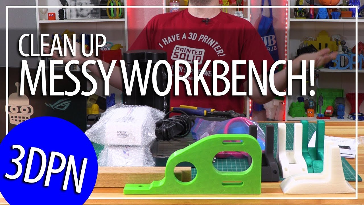 Cleaning Off My Messy Workbench and 3D Printing Projects Update