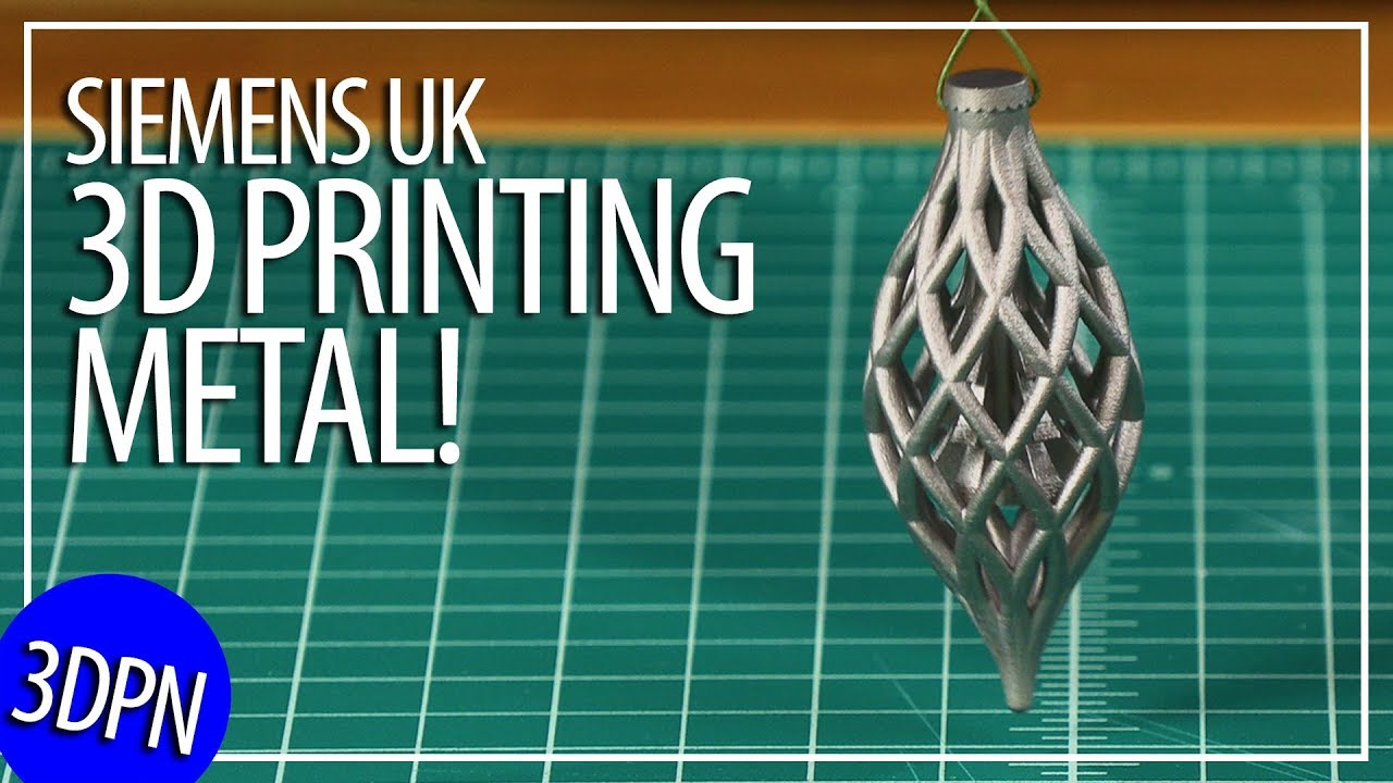 3D Printing Metal! Press Tour Siemens UK Materials Solutions AND Free STL!