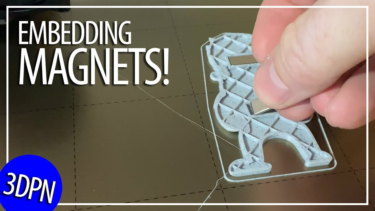 Embedding Magnets when 3D Printing by Flipping Normals thanks to Makers Muse