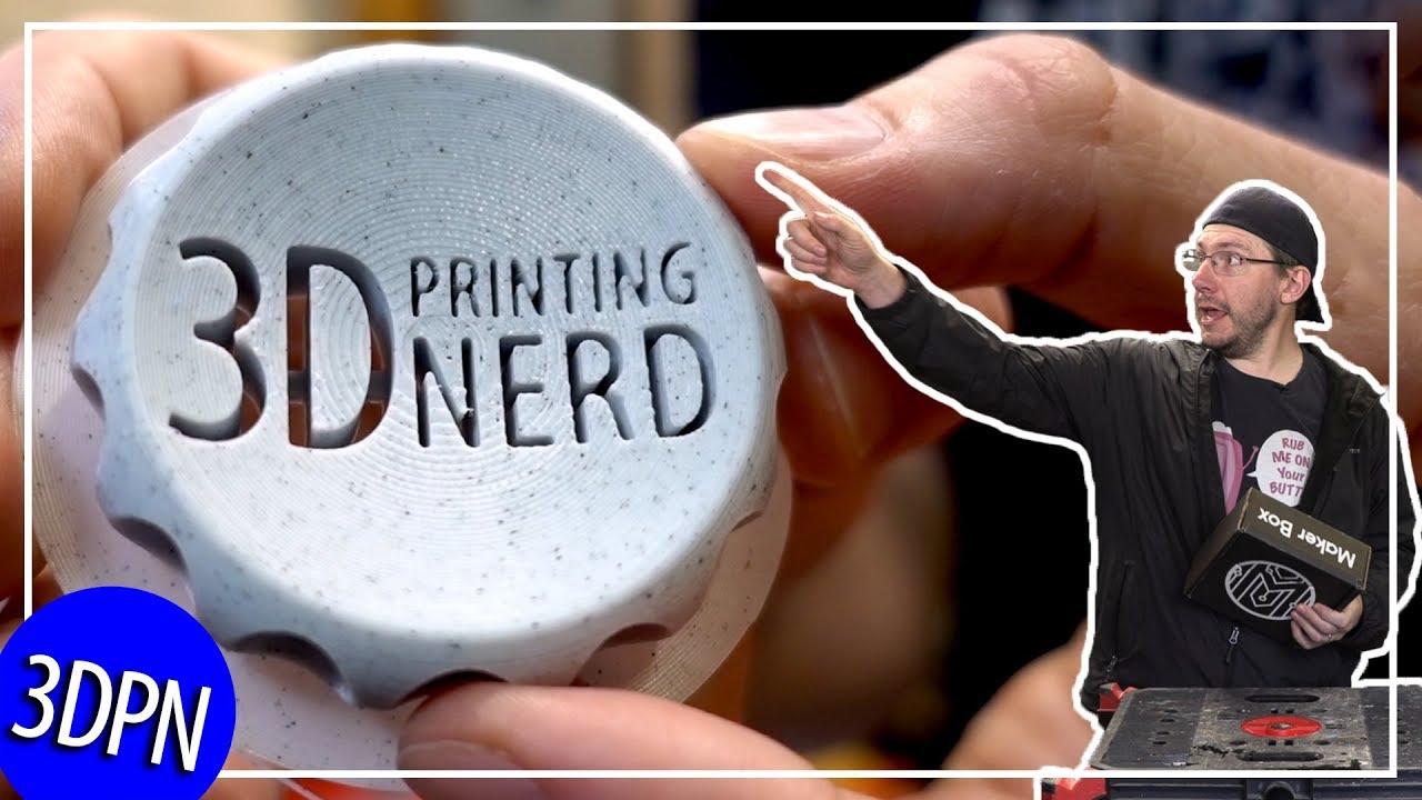 3D Printing Makerbox Samples from Atomic, Proto Pasta, Aprintapro, and Filoalfa
