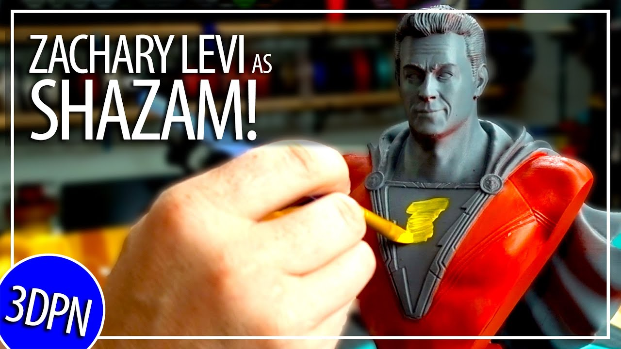 3D Printing AND PAINTING Zachary Levi as SHAZAM! WIN THIS!