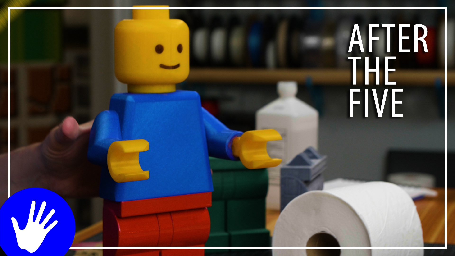 After The Five – LEGO TOILET PAPER HOLDER PAINTED PANTS