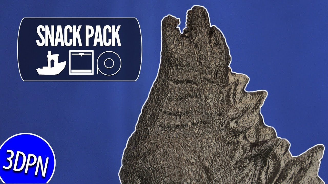 The KING OF MONSTERS – 3D Printing Godzilla by Chaos Coretech [SNACK PACK]