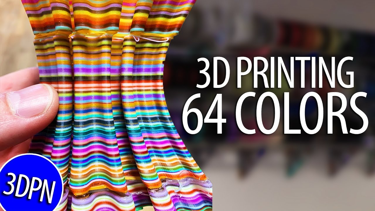 3D Printing 64 Colors Using 21 Palettes!