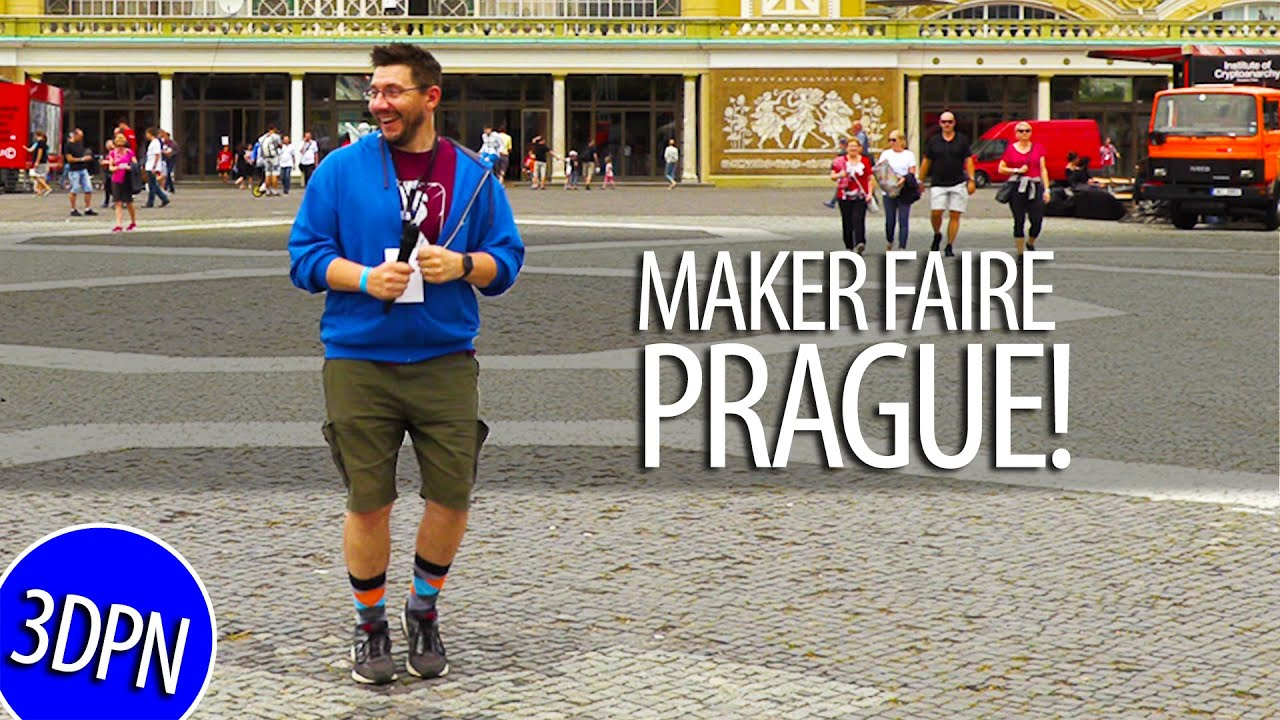 3D Printing, Glass Blowing, Epic Cosplay at Prague Maker Faire!