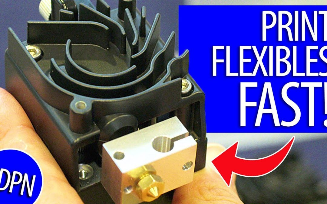 Print Flexible Material FAST with the E3D Hermes Extruder