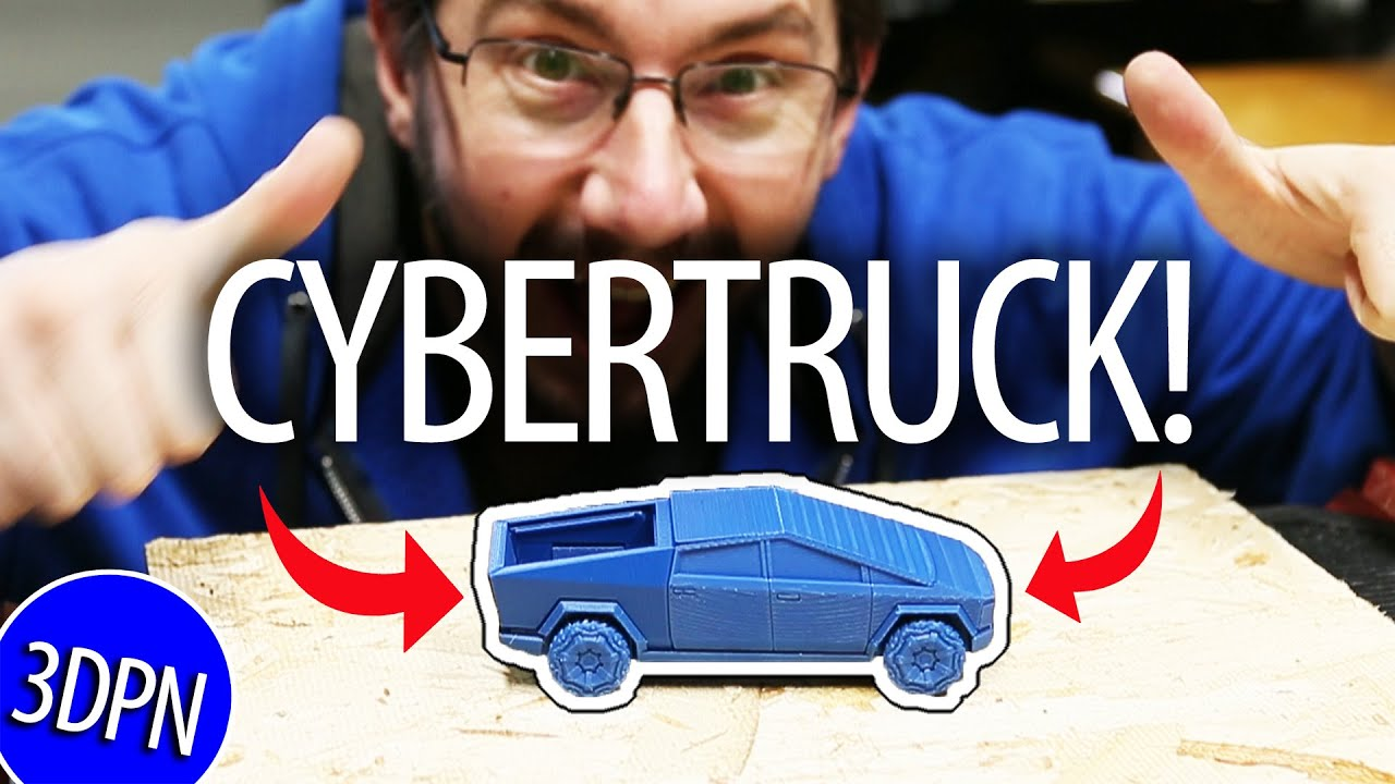 3D Printed Tesla Cybertruck Assembled AND Window Tested