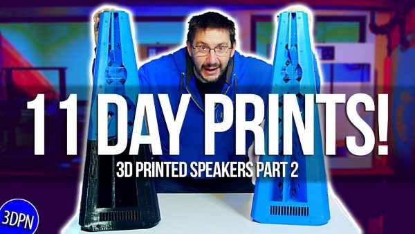 3DPrinted Speakers Part 2: 11 DAY PRINTS