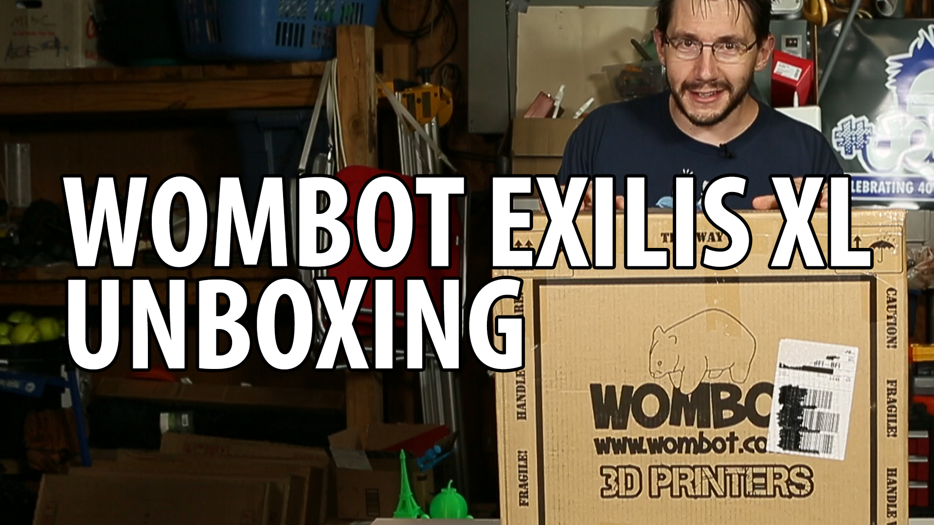Wombot Exilis XL 3D Printer Unboxing and First Use