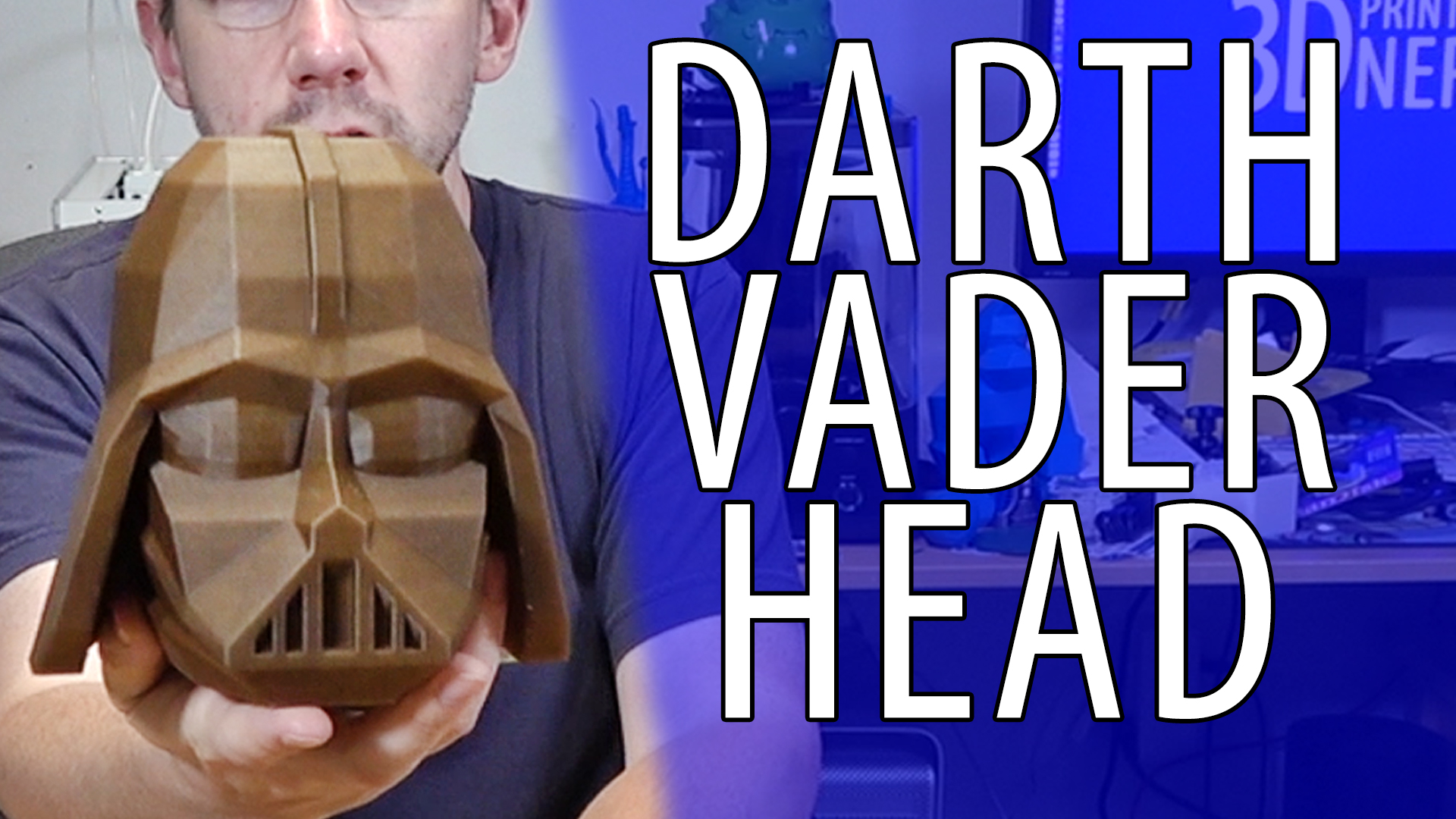 3D Printing a Proto Pasta Aromatic Pine Darth Vader Head