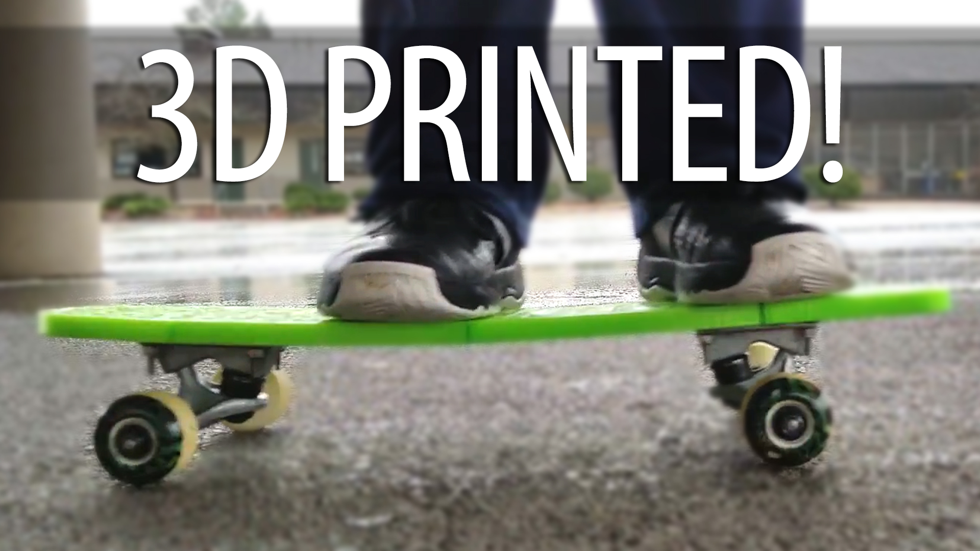 Assembling & Testing a 3D Printed Skateboard. Does It Work. Yes. Sort Of. 3D Printing Cool Stuff!