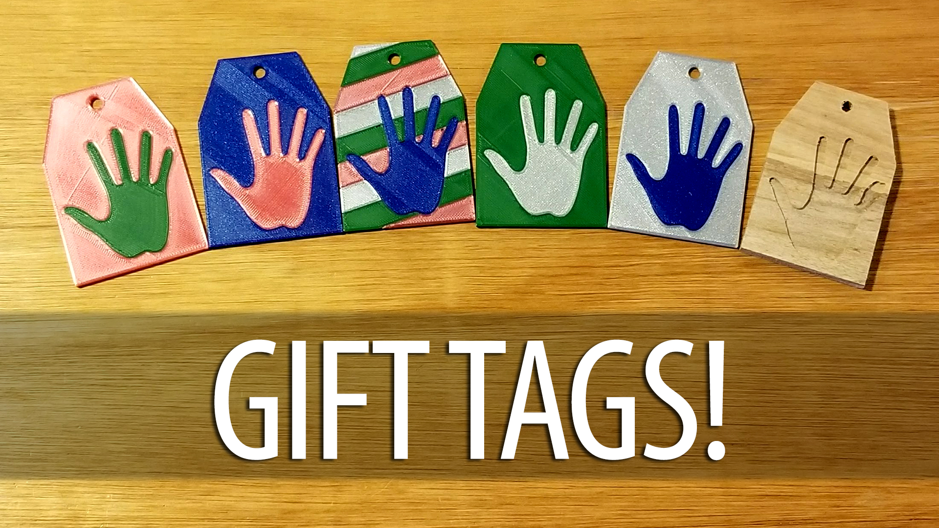 Custom Christmas Gift Tags – Using Fusion 360, Prusa Multi Material, & Inventables Carvey CNC
