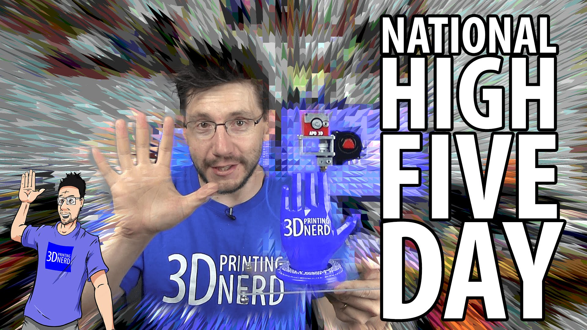 National High Five Day with A Pyro Design