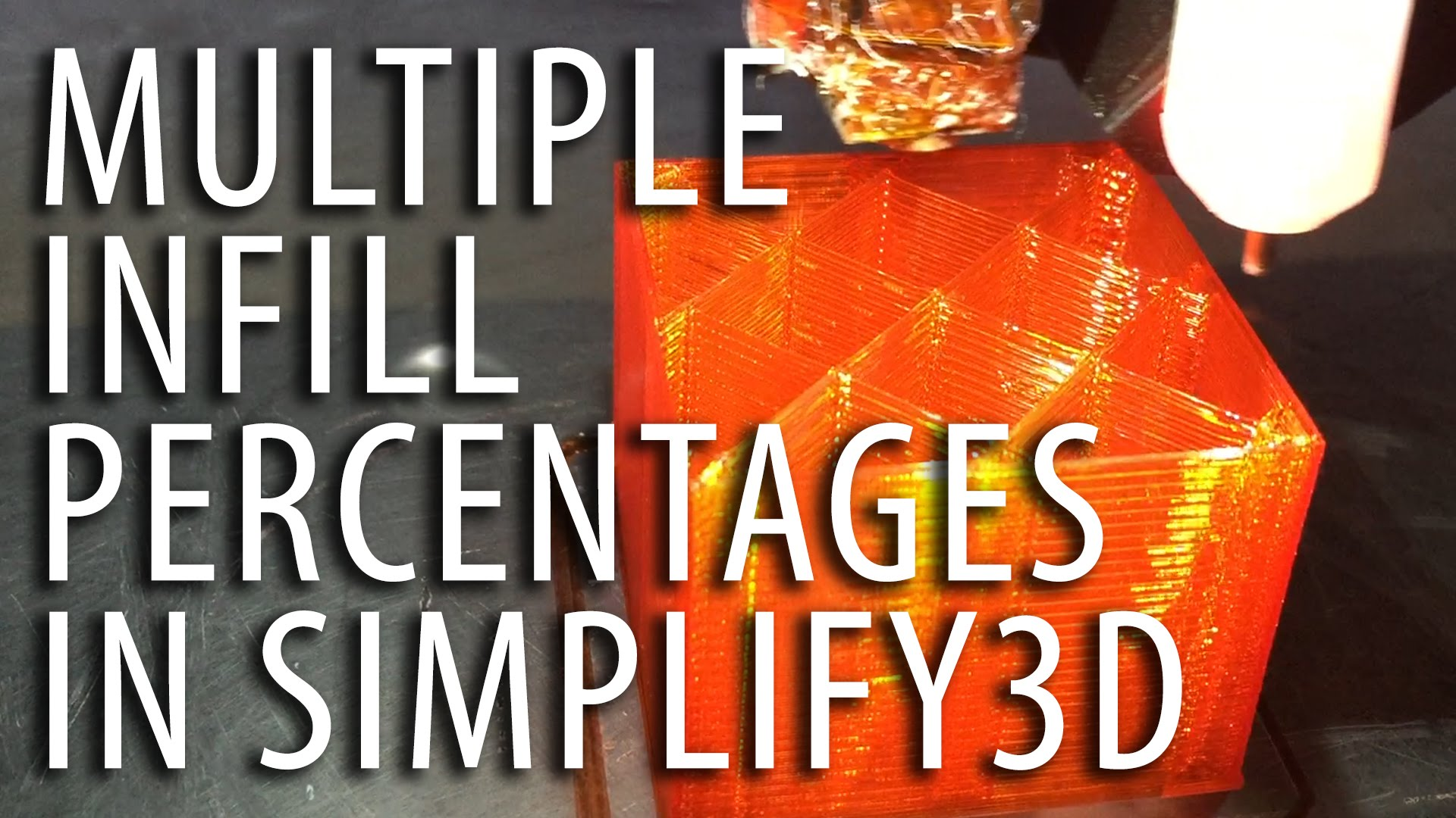 How To Use Multiple Infill Percentages When 3D Printing With Simplify3D