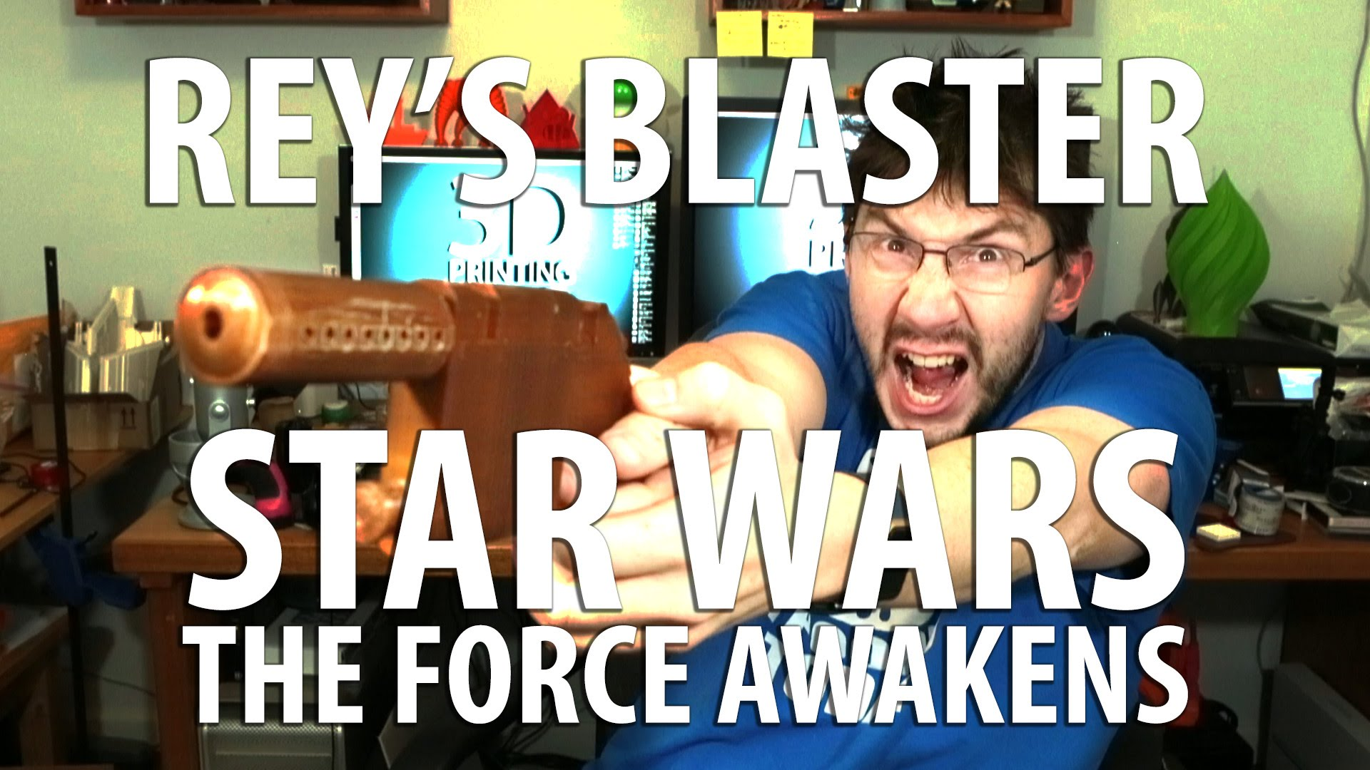 3D Printing Rey's Blaster from Star Wars: The Force Awakens! [CONTEST]