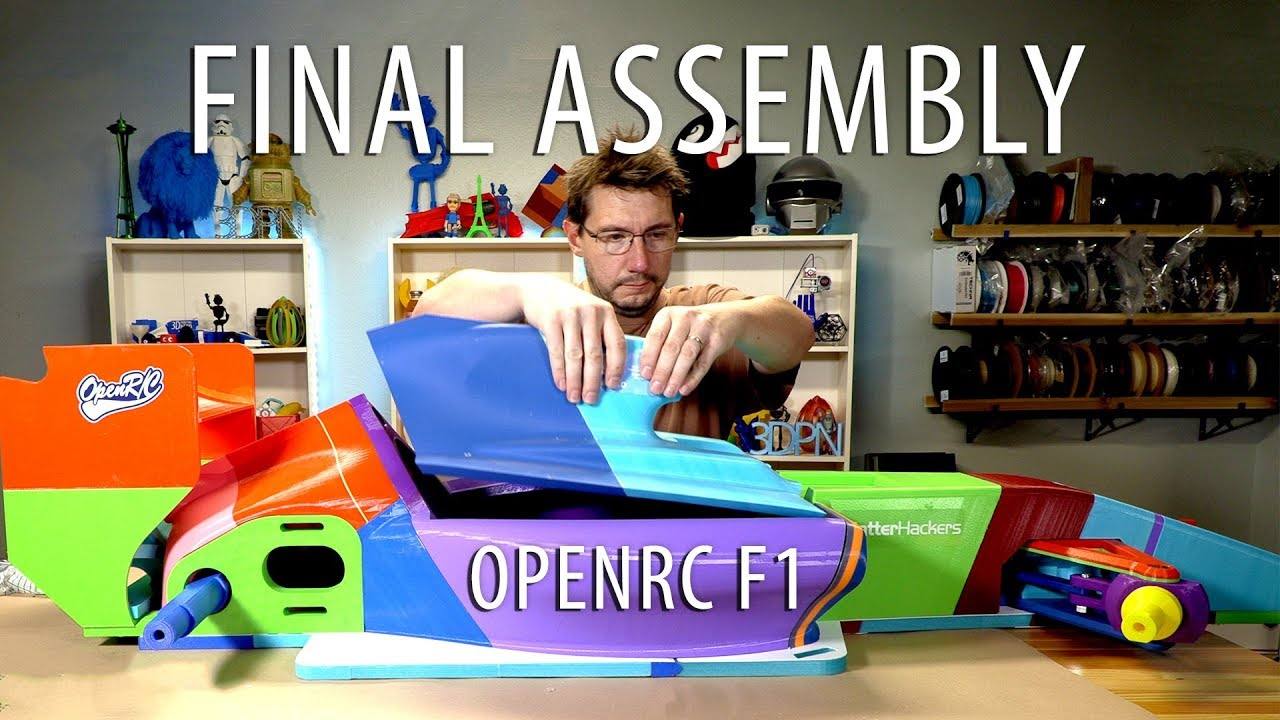 Worlds Largest OpenRC F1 Car – Phase 5 // Final Glue, Metal Fasteners, Tapping Parts