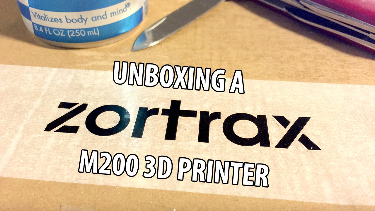 WAS LIVE: Unboxing The Zortrax m200 3D Printer