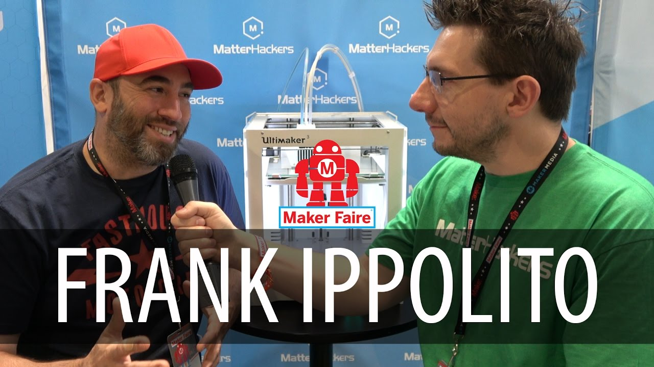 Talking 3D Printing with Frank Ippolito at the Matterhackers booth at Maker Faire Bay Area 2017