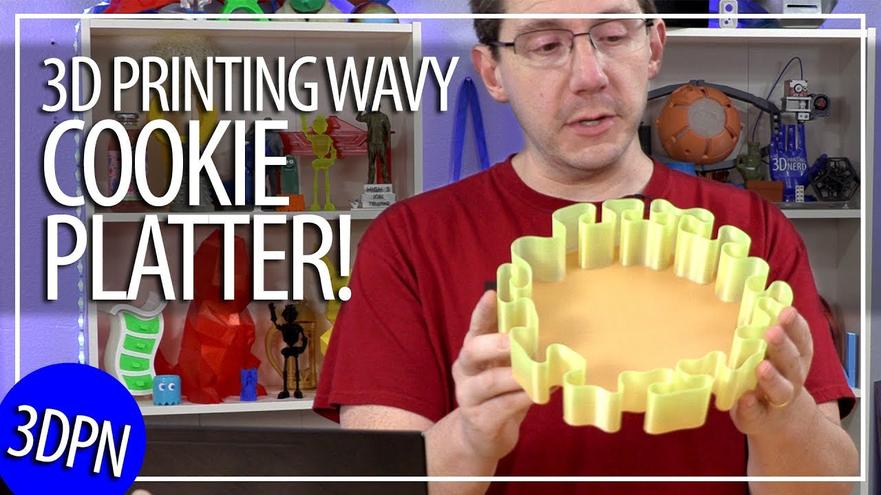 Last Minute Christmas Gift Idea: 3D Printing a Wavy Cookie Platter / Cookie Tray