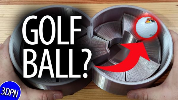 GOLF BALL in a 3D Printed Marble Kaleidoscope?